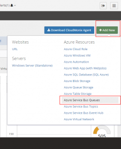 Add Azure Service Bus Queues resource to Netreo monitoring profile