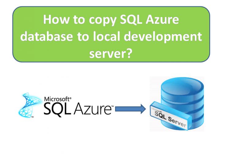SQL Azure to SQL Server