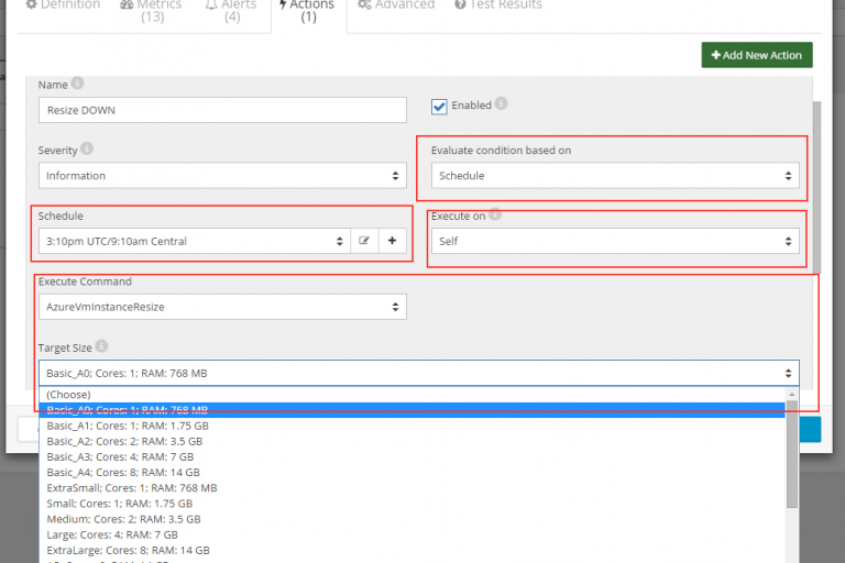 Scale Azure VM on a schedule