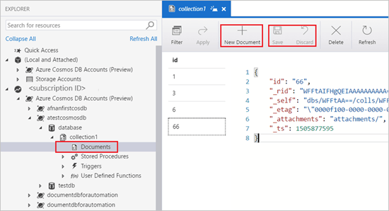 An Insight Into Cosmos DB in Azure Storage Explorer