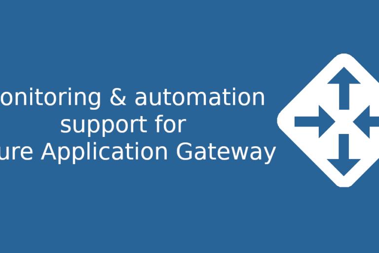 Azure Application Gateway support