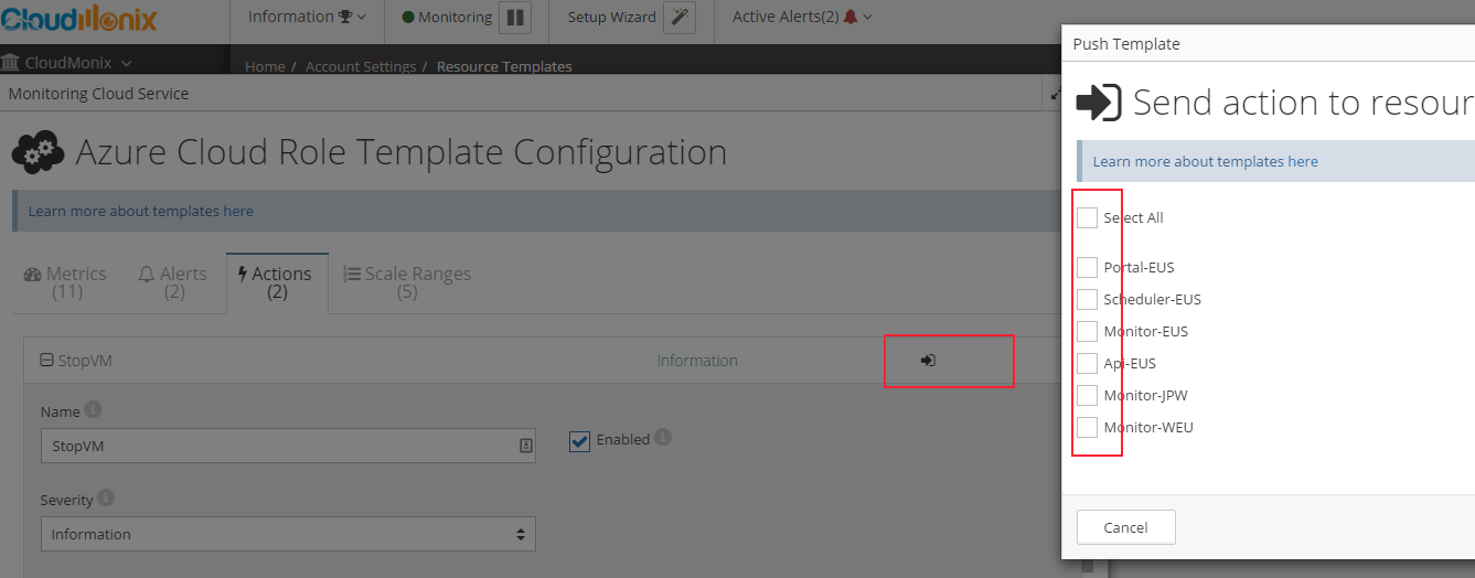 Copying Start/Stop actions to other VMs