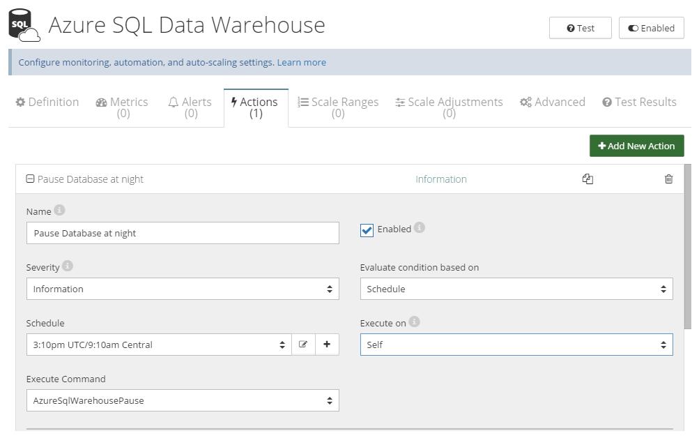 SQL Data Warehose Monitoring and Auto Scaling