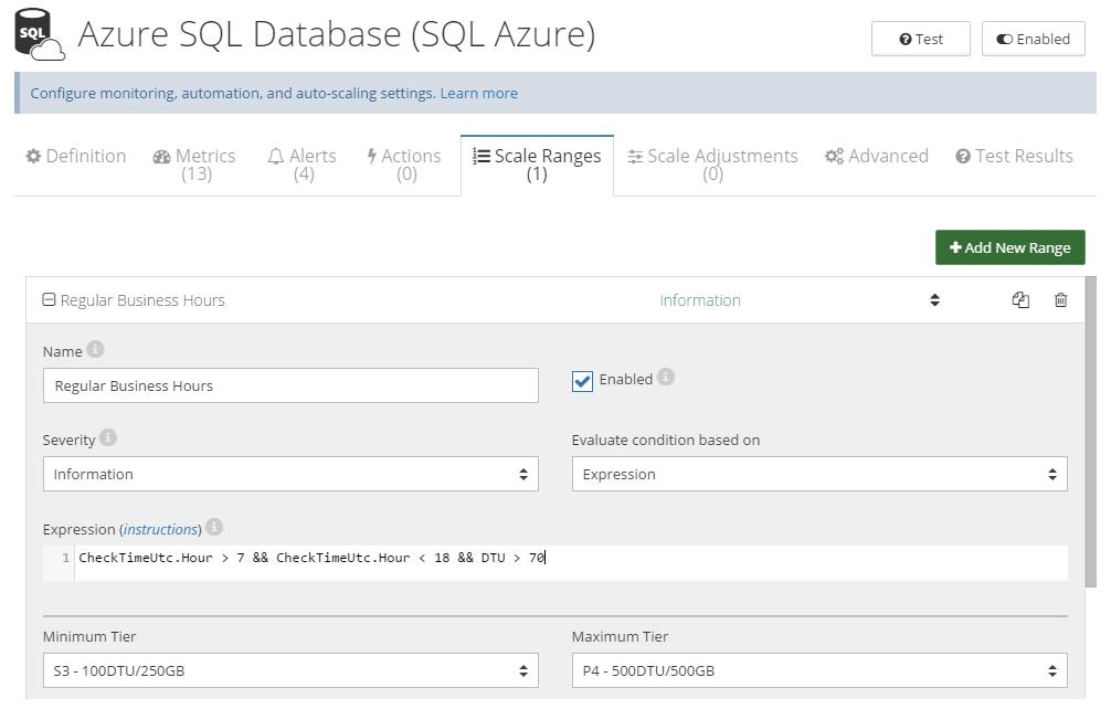 SQL Azure auto-scaling