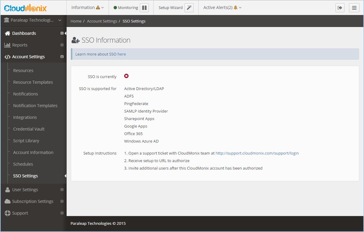 Netreo Resource Manager API - Enterprise Single Sign On