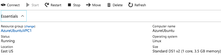 The VM IN Azure - Connect Amazon VPC to Azure using dedicated VPN connection