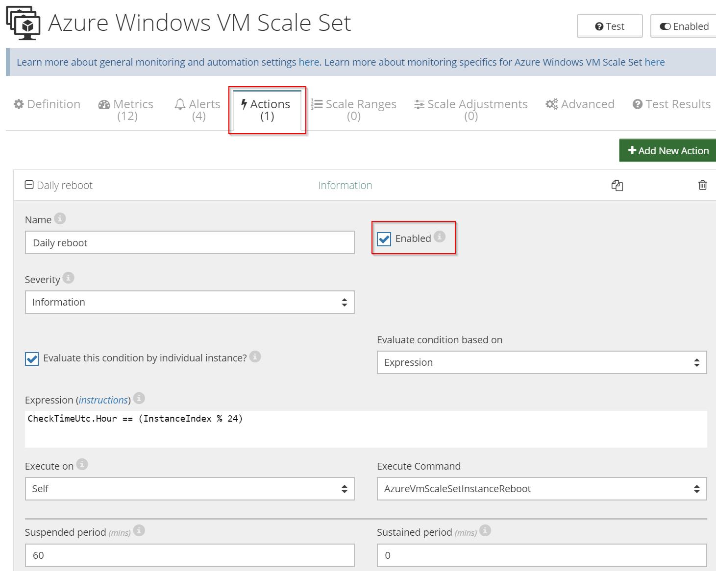 reboot Azure VM