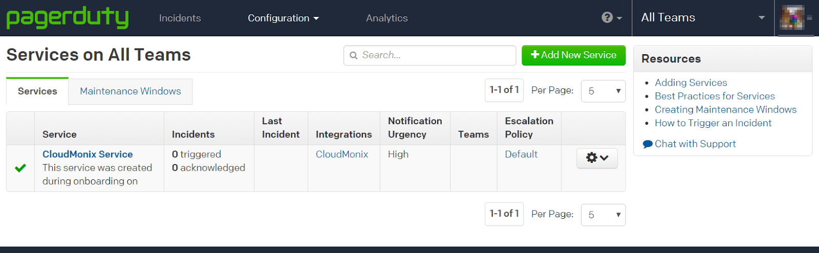Netreo Essentials notifications in PagerDuty Integration