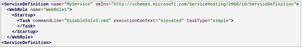 Technical Method To Disable SSL 3.0 In Azure Machines