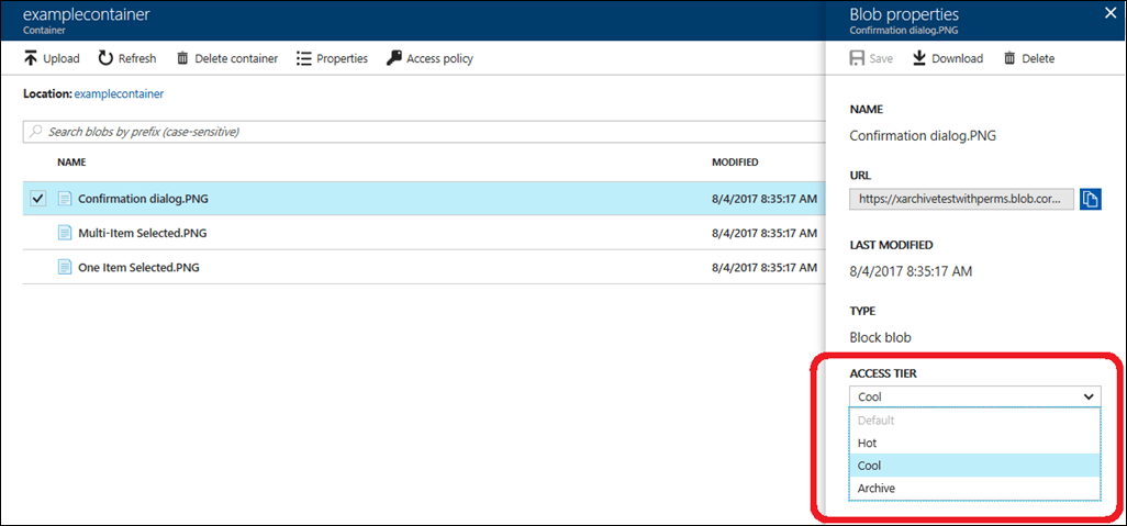 How to save money on Azure Blob Storage with blob-level Tiering