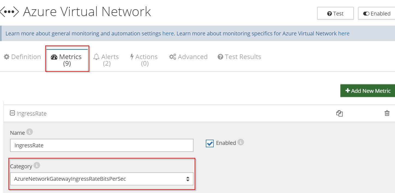 How to monitor Azure Virtual Network Gateways using Netreo