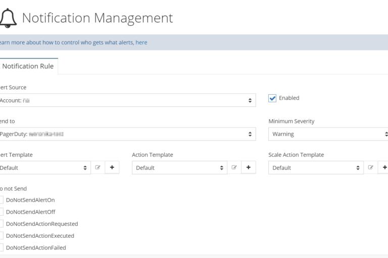 Network Notification Management