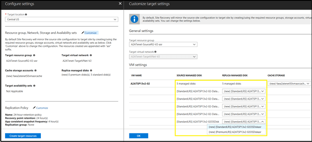 Protecting via the recovery services vault experience - Protection Of Machines With Managed Disks Using Azure Site Recovery