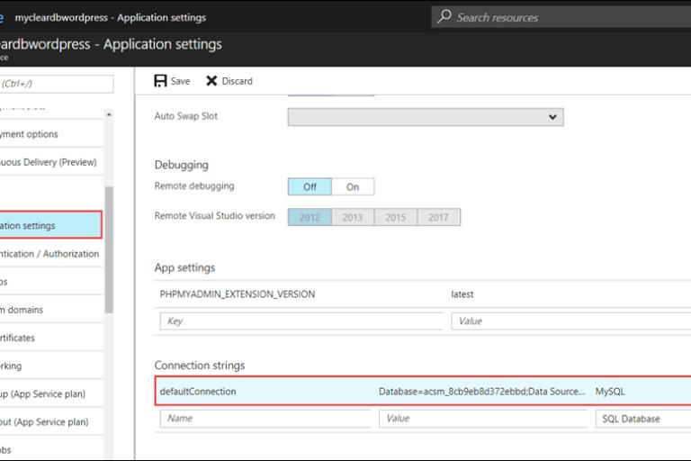 Microsoft azure Network Monitoring Application Settings