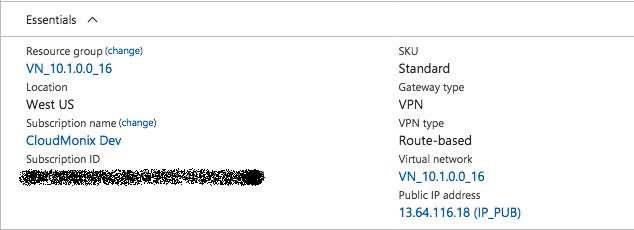 Connect Azure VPN Gateway to AWS VPC