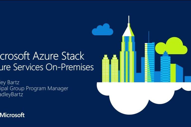 Azure Azure Stack Services On-Premises