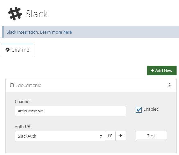 Enable push Netreo notifications in Slack