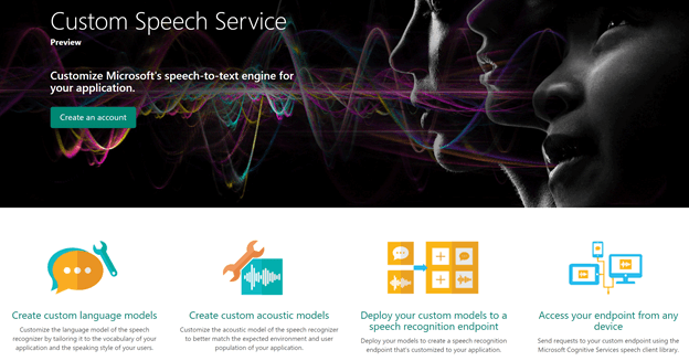 Custom speech service
