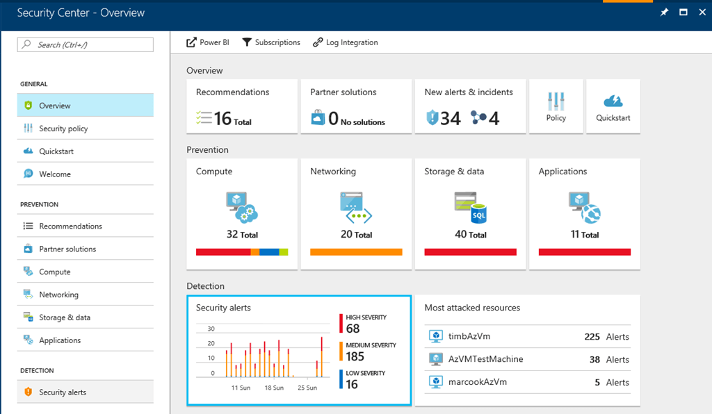 Security Center Overview - Detect and prevent Petya ransomware in Azure Security Center