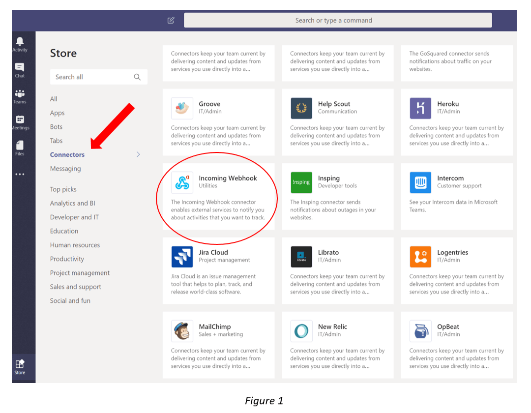 Connectors Microsoft Team