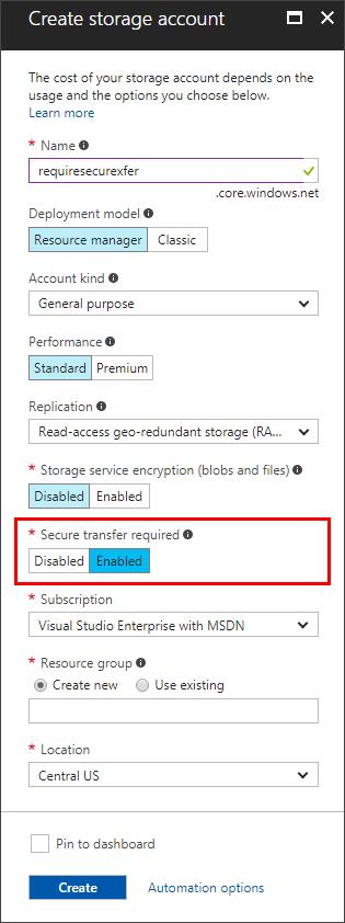 Enhance secure transfer of Azure Storage