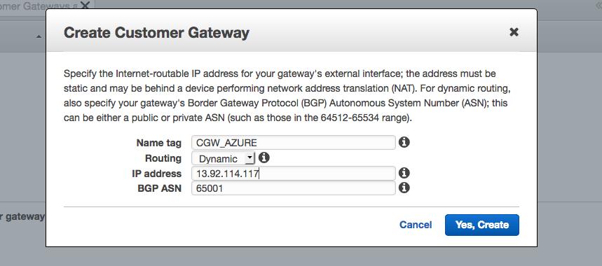 Customer Gateaway VPC
