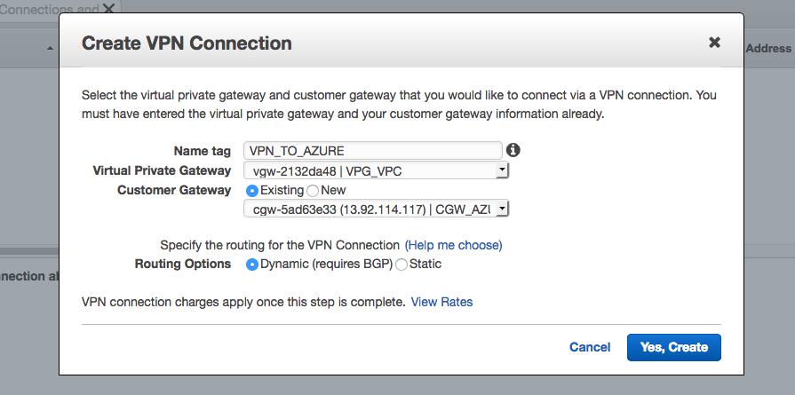 VPN Connection Azure