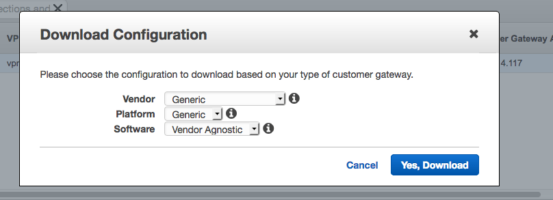AWS Download Configuration
