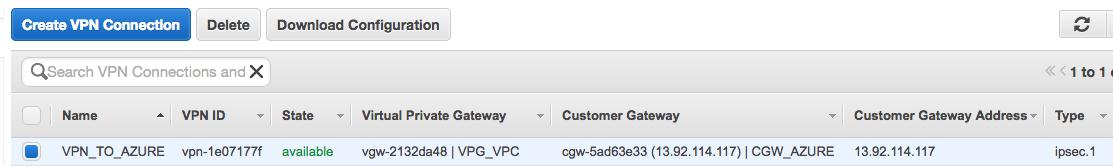 Create VPN Connection