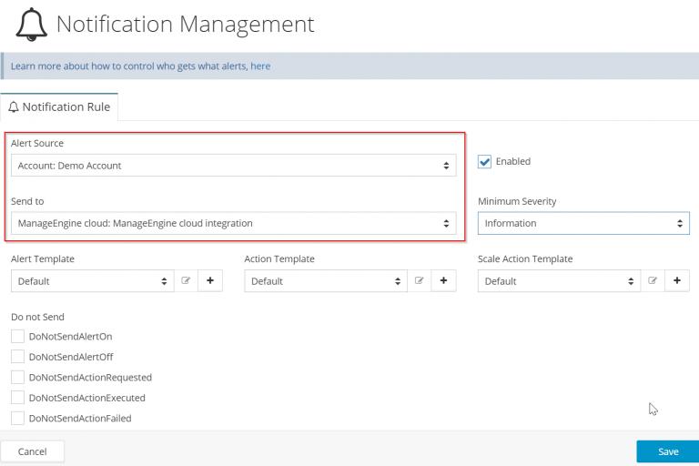 Netreo Notification Management - Notifications