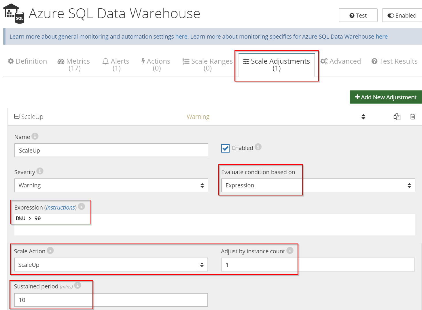 auto-scale Azure SQL Data Warehouse
