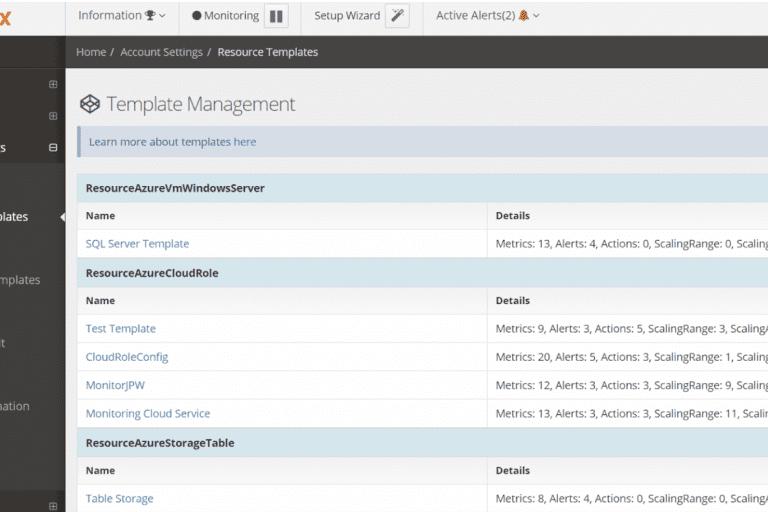 Netreo Template management