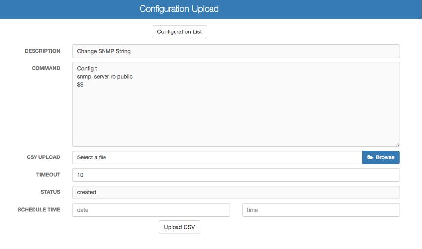 Push Device Configuration Changes - Configuration Upload
