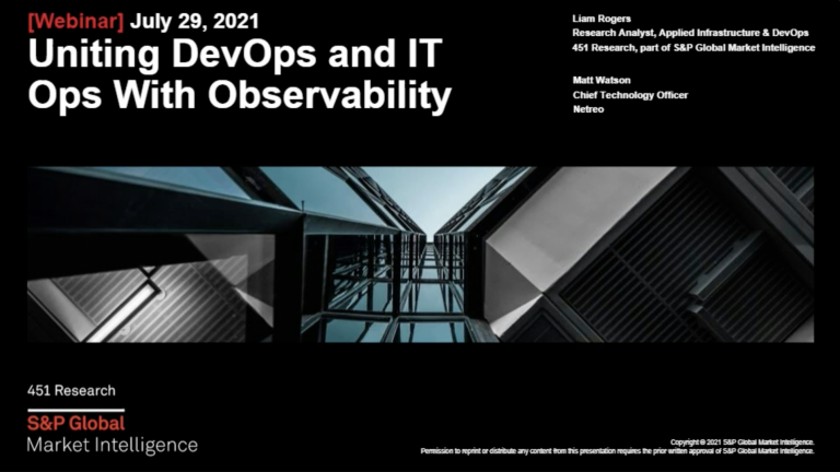 Uniting DevOps and IT Ops with Observability