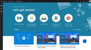 Azure Data Factory quick start using templates