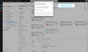 GIT integration (Azure Dev Ops GIT or GitHub) in the data factory