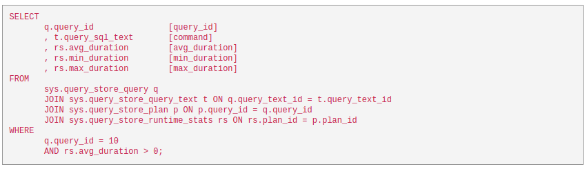 query-execution-time