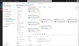 Azure Data Factory Template functionality