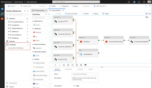 Azure template can be seen in the Templates section of the resource explorer.